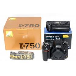 NIKON D750 + GRIP VERTAX D16