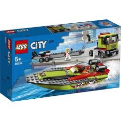 LEGO CITY Transporte de la Lancha de Carreras 60254 PRECINTADO
