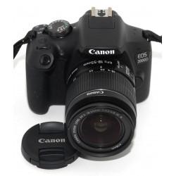 CÁMARA REFLEX CANON EOS 2000D + CANON 18-55